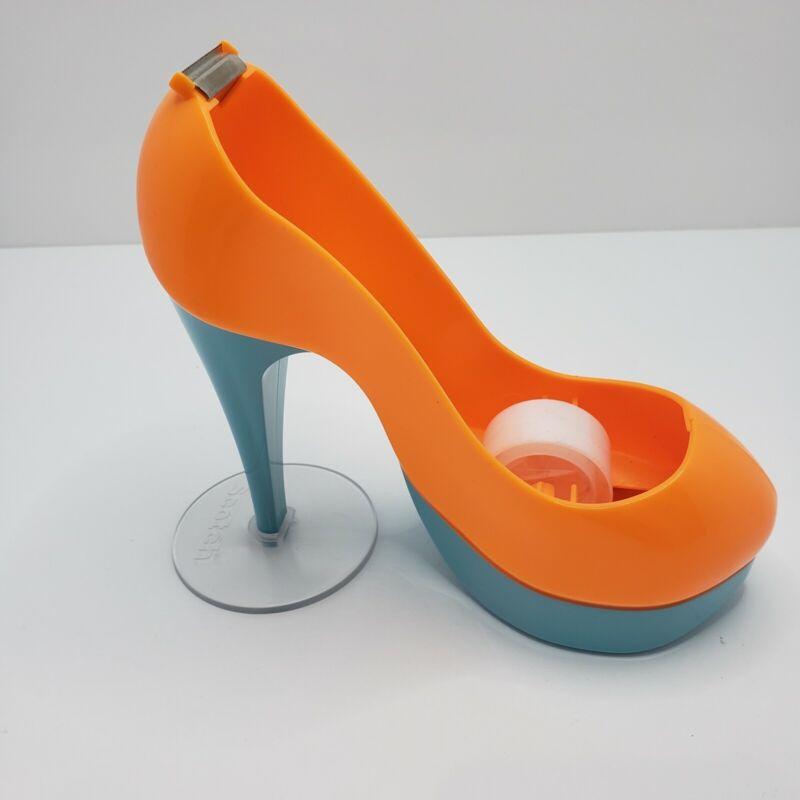 Scotch Tape Orange/Tourquoise High Heel Shoe Tape Dispenser VGUC