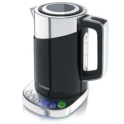 Arendo Edelstahl Design Wasserkocher mit Temperaturwahl   1,7l   3000 Watt   NEU Wasserkocher