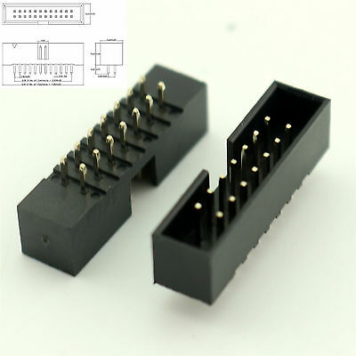 Electronic Components & Supplies 2019 New Style 6pcs 2x6 12 Pin 2.54mm Double Row Female Straight Header Pitch Socket Pin Strip