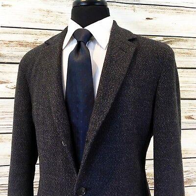Hugo Boss Wool CASHMERE Ptch Pkt Knit CARDIGAN BLAZER 40L Static Mens Sport Coat