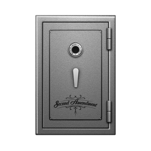Second Amendment Fireproof Safe, Storage Vault w/ Brass Dial Lock 30x20x20