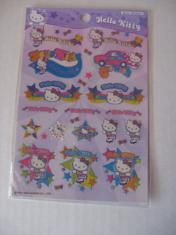 Sanrio Hello Kitty Stickers Rollergirl Vintage Collectible 1976-2004 EW