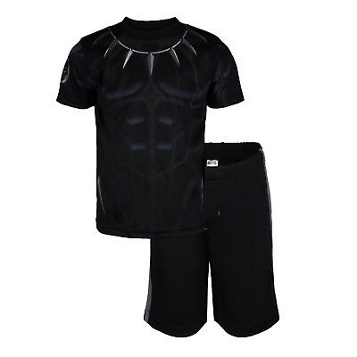 Marvel Avengers Black Panther & Hulk Boys' Athletic T-Shirt & Mesh Shorts Set ()