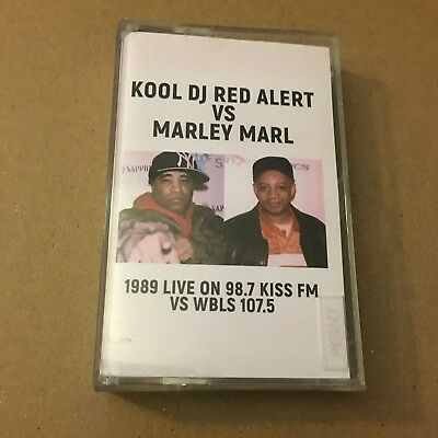 Kool DJ Red Alert vs Marley Marl Kiss Fm & WBLS NYC 1989 Cassette Mixtape Tape