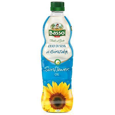 Botella Aceite de Semillas de Girasol 1 Litro Aceite Basso Freír Sunflower...