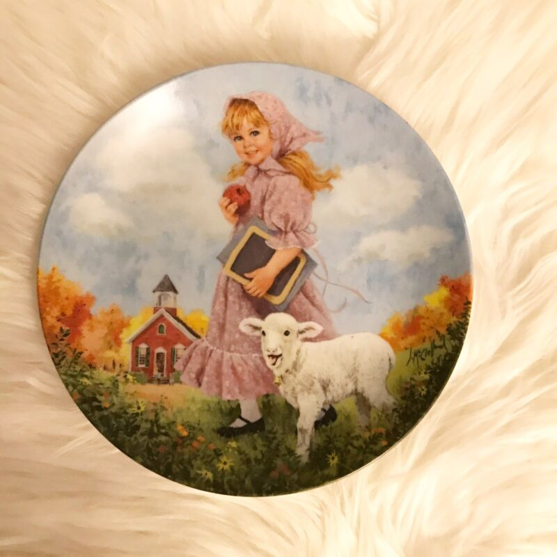 1985 Reco Mary Had A Little Lamb Mother Goose Series John Mc Clelland Plate