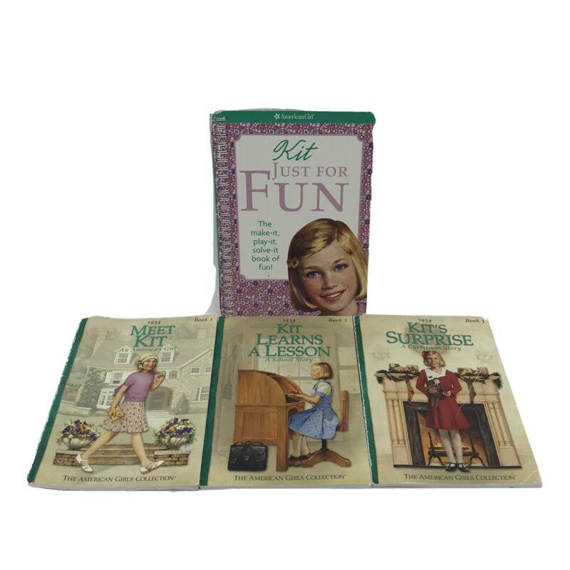 American Girl Kit Kittredge Books For Kids RL4 & Up Lot of 4 Paperbacks -AC/3