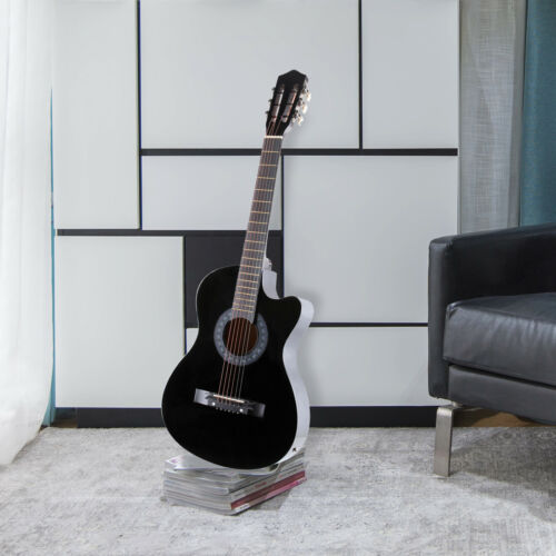 "38"" Electric Acoustic Guitar Cutaway Design With Guitar Case"