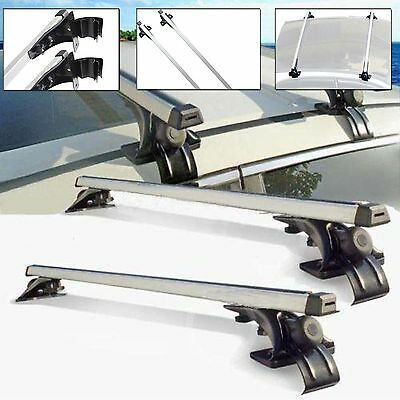 "UNIVERSAL 47"" CARGO LUGGAGE TOP ROOF RACK BLACK CROSS BAR CAR CARRIER"