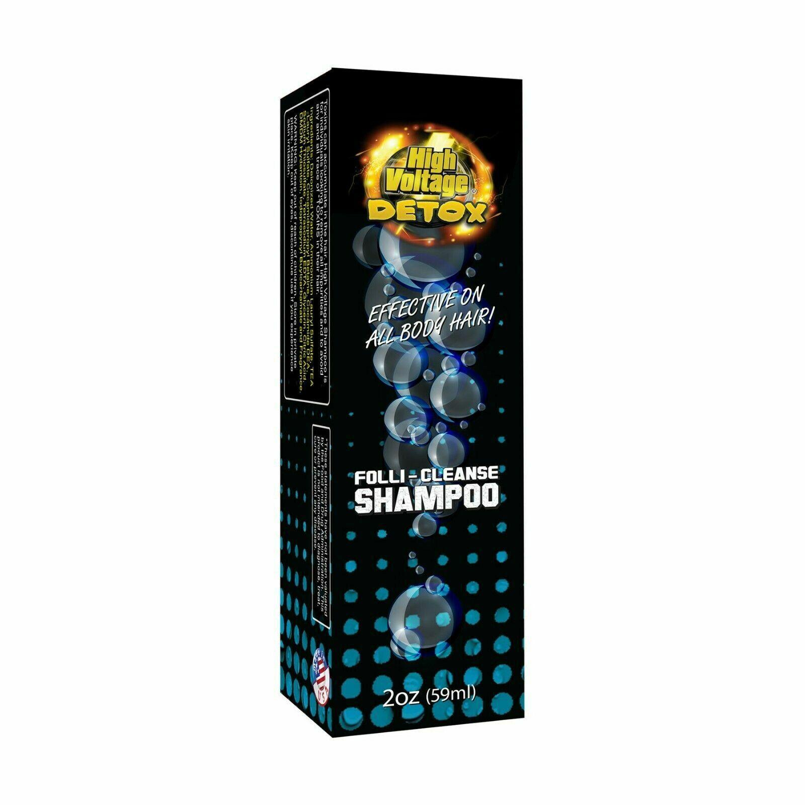 High Voltage Detox Folli-Cleanse Shampoo 2oz Cleanse & Detoxify All Body Hair