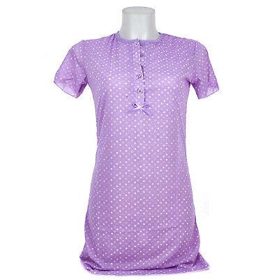 Camicia da notte donna estate in cotone manica corta cerchi 0DECAM032