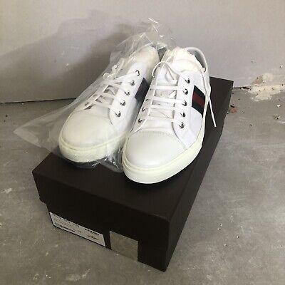 Gucci California White Low Canvas Trainer UK8
