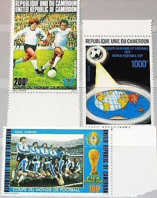 CAMEROUN KAMERUN 1978 885-87 C273-5 11th World Soccer CS Fußball WM Football MNH