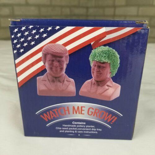 "NEW Chia Pet ""Watch Me Grow"" Donald Trump Pottery Planter - FREE Shipping!"
