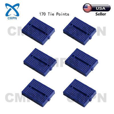 6pcs Blue 170 Tie Points Mini Solderless Prototype Breadboard For Arduino Shield