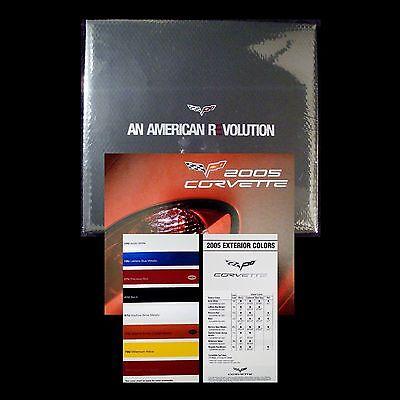 2005 COUPE CORVETTE LS2 - BOOK + DVD + 2004 NAIAS BROCHURE + CHART: CHEVROLET C6