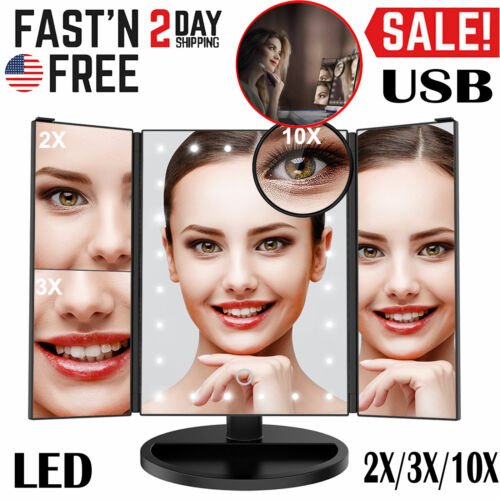 24 LED Lighted Vanity Makeup Cosmetic Mirror Touch Screen 1/