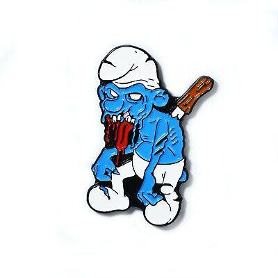 Blue Smurf Horror Movie Halloween Zombie Pendant Lapel Hat Pin