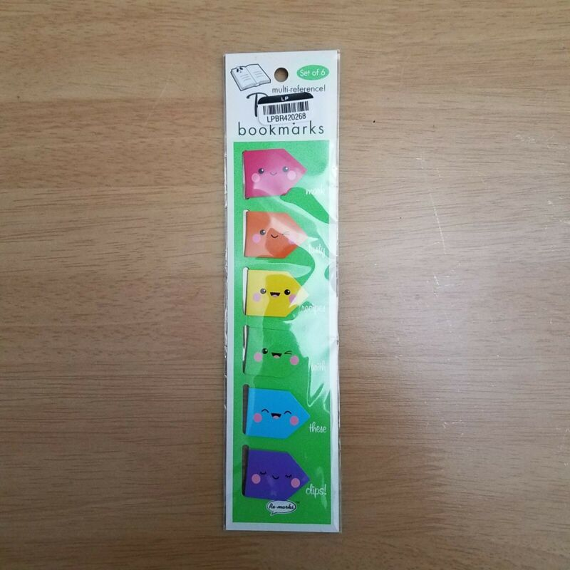 Recipe Cute Bookmark Set of 6 Clips Colorful NEW