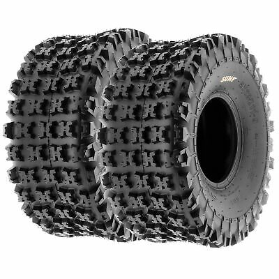 Pair of 2, 22x10-9 22x10x9 Quad ATV All Terrain AT 6 Ply Tires A027 by SunF