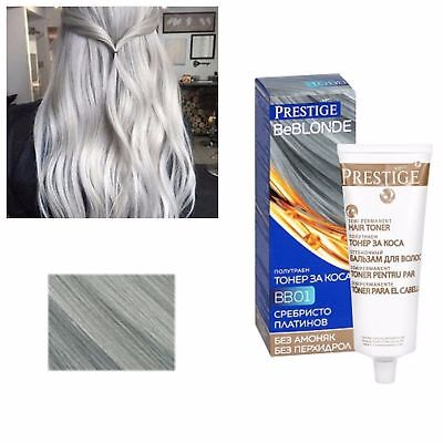 Grey Hair Silver Effect Toner DYE BLOND HAIR 100 ml. NO AMONIA and PEROXIDE for sale  Shipping to Canada
