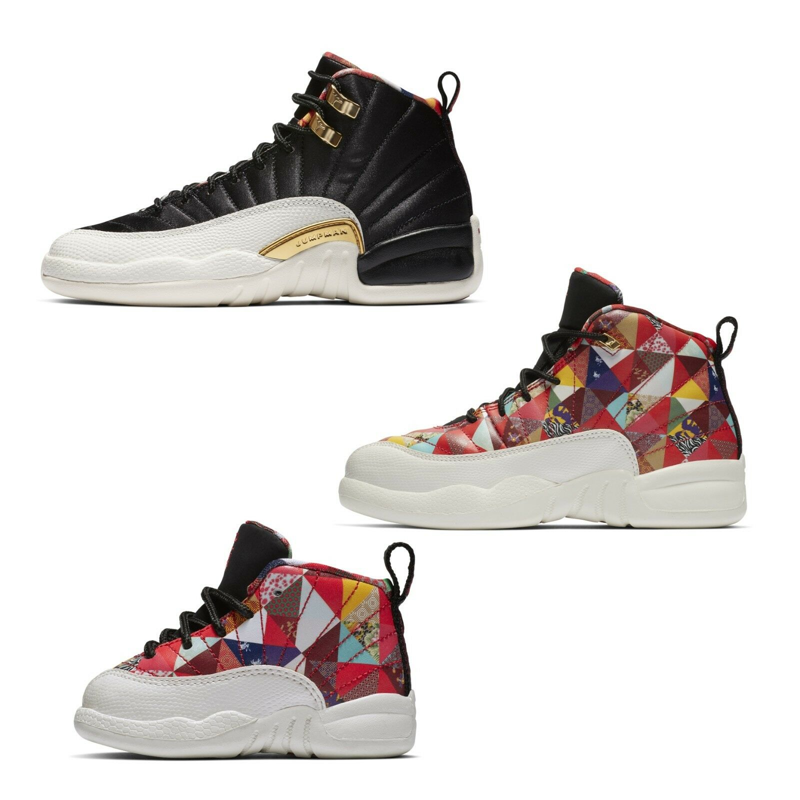 new concept 7de3b f5b7f Details about Air Jordan 12 Retro CNY 2019 Chinese New Year AJ12 Womens  Kids Youth GS PS TD