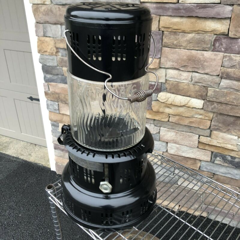 Vintage Perfection Kerosene Heater with Glass Globe and Wick