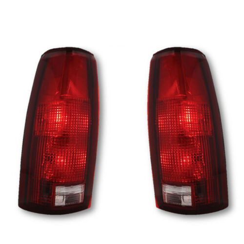 88-02 Chevy Chevrolet GMC C/K Truck Tahoe Blazer L & R Tail Light Lamp Lens Pair