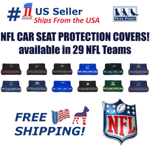 NFL Premium Car Seat Protecting Cover, Durable, Waterproof, Fits most rear seats