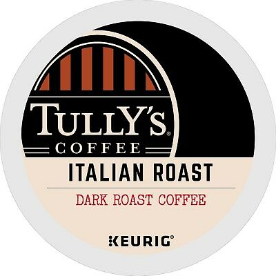 Tully's Italian Roast Coffee 24 to 96 Keurig K cups Pick Any Size FREE SHIPPING