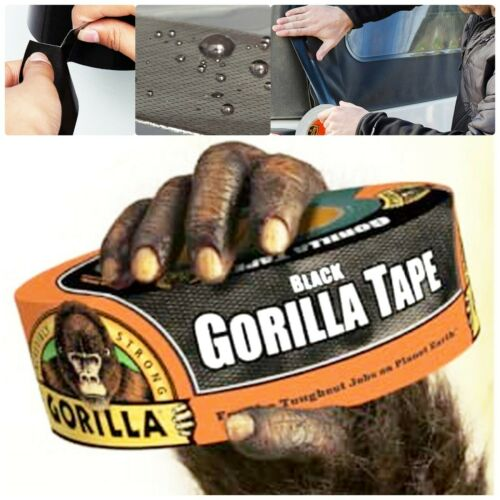 Black Gorilla Duct Tape Roll Tough Wide Waterproof Adhesive Cloth Scotch Tape