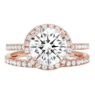 2.62ct Round Cut Promise Bridal Engagement Wedding Ring B...