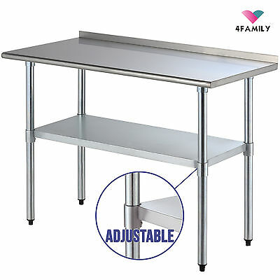 24 X 48 Stainless Steel Work Prep Table With Backsplash Kitchen Restaurant