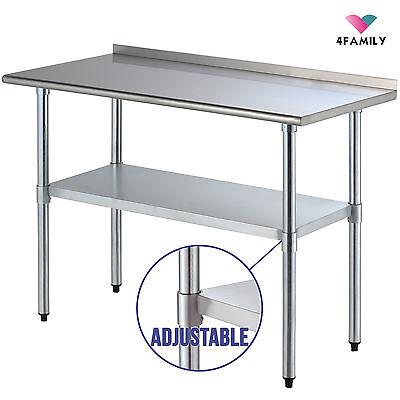 """24"""" x 48"""" Stainless Steel Work Prep Table with Backsplash Kitchen Restaurant"""