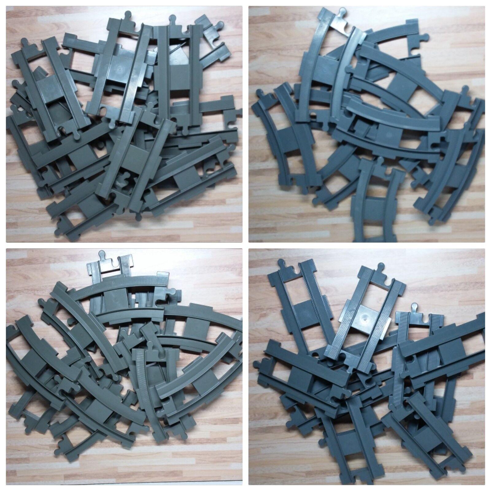 *Sonderangebot*Lego Duplo Eisenbahnschienen Set Kurven+Grade hellgrau/dunkelgrau