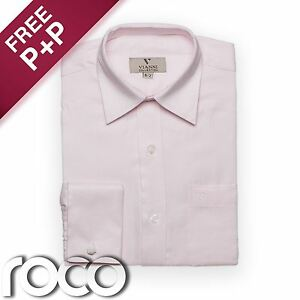 Baby-Boys-Pink-Shirt-Boys-Cufflink-Shirt-Kids-Shirts-Childrens-Shirts