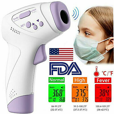 Digital Lcd Non-contact Infrared Thermometer Forehead Body Temperature Gun Ce Fc