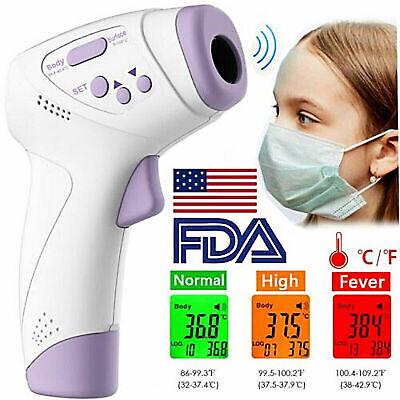 Digital LCD Non-contact Infrared Thermometer Forehead Body Temperature Gun CE FC