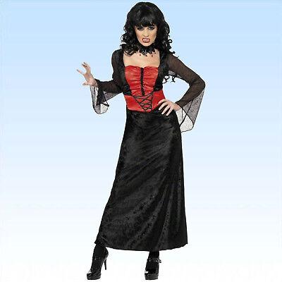 Vampirkleid Samt Gr. M Kleid Vamp Kostüm Vampir Finsternis Dracula Vampirin