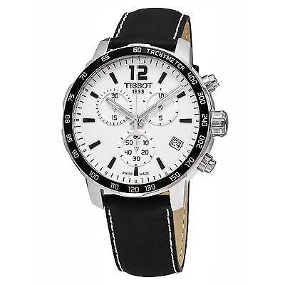 Tissot Men's Quickster White Chronograph Dial Swiss Quartz Watch T0954171603700