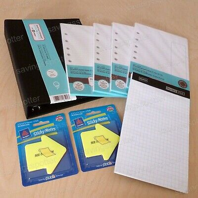 Martha Stewart Home Office Avery Mini Black Binder Filler Paper Back To School