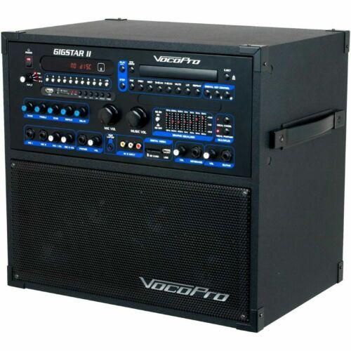 Vocopro Gigstar Professional DVD/CD 100w Karaoke Machine System+(2) Microphones