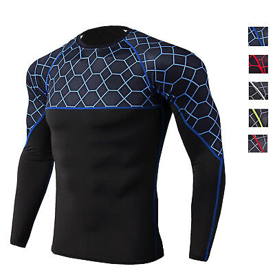 Men's Active Sports Shirt Quick-dry Training Gym Tops Long Sleeve Compression  Active Long Sleeve Training Top