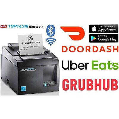 Star Tsp143iiib Gyus Bluetooth Thermal Receipt Printer Ubereats Doordash Grubhub