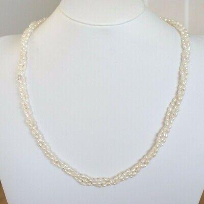 60s -70s Jewelry – Necklaces, Earrings, Rings, Bracelets VINTAGE c1960S 14K SOLID GOLD CULTURED PEARL TORSADE NECKLACE $149.05 AT vintagedancer.com