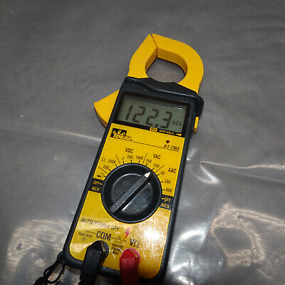 Ideal 61-760 Digital Snap-around Volt-ohm-ammeter Clamp Meter Wleads