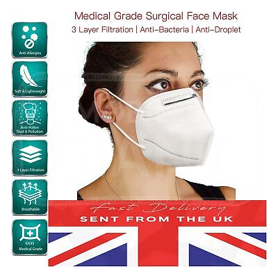 1 Pcs KN95 Face Mask Genuine Respirator Anti Dust Flu Protection FFP2 UK Seller
