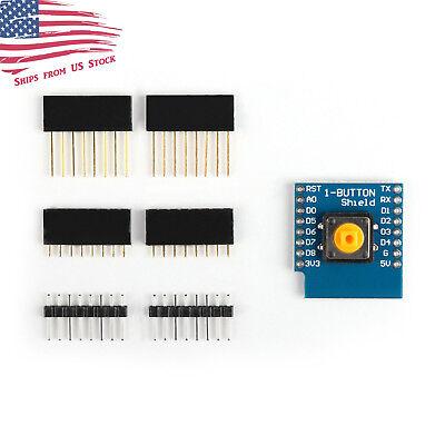 Button Shield For D1 Mini Esp8266 Wifi Wemos Module Iot Wireless Control Us