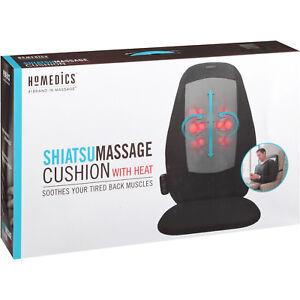 Massage Cushion Back Pain Heated Shiatsu Seat Massager Chair Kneading HoMedics