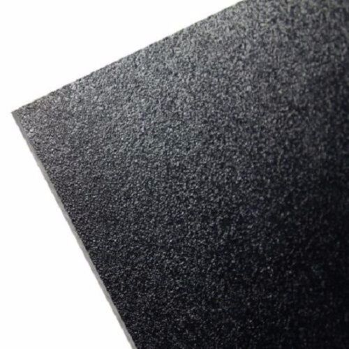 """ABS Black Plastic Sheet 1/4"""" x 24"""" x 24""""  (.250"""") Haircell 1-Side 6mm Stereo"""
